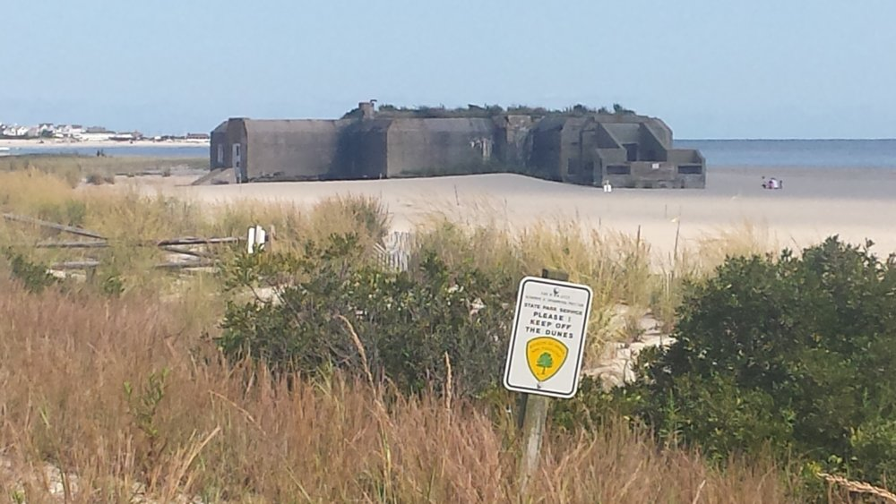 WWII bunker buried in the sand