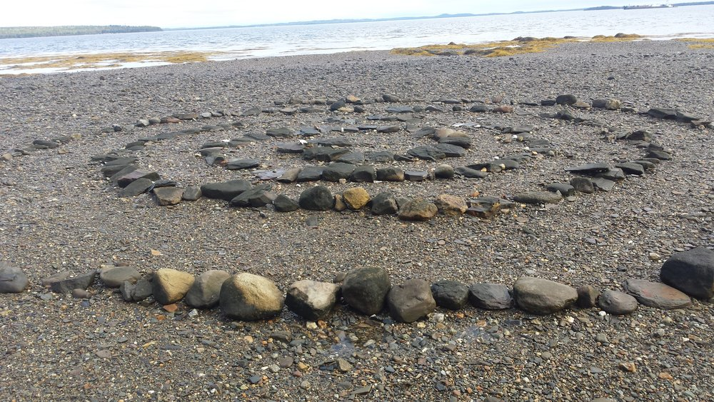 A labyrinth at low tide... what an interesting surprise!