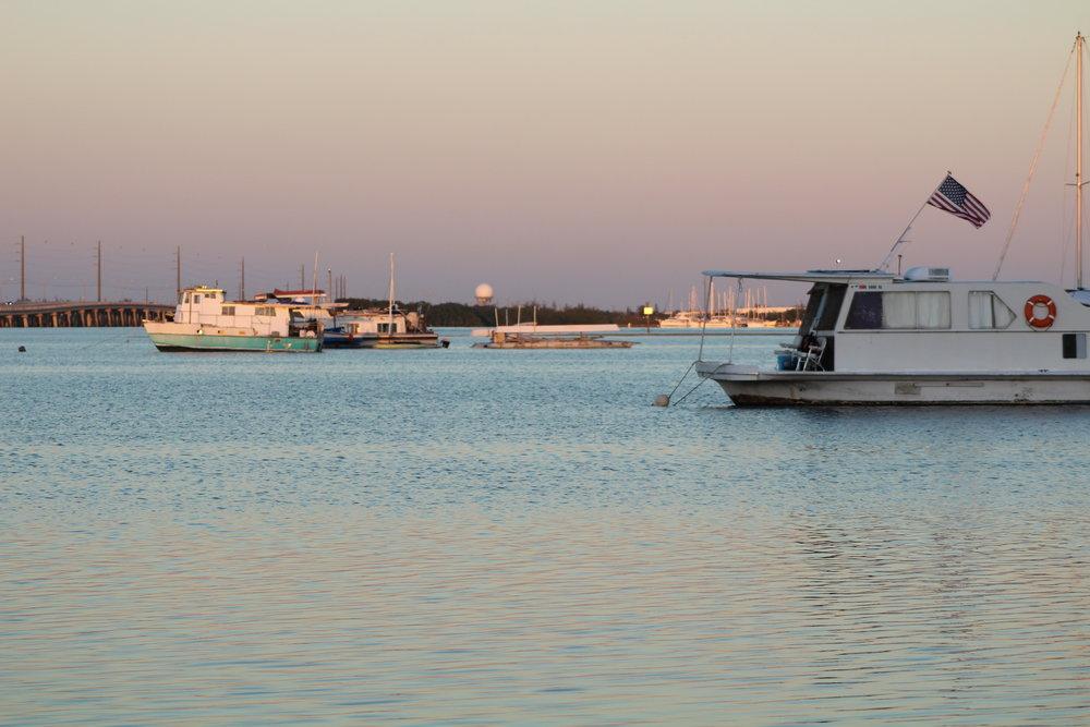 Sunset on bay, Key West, Florida