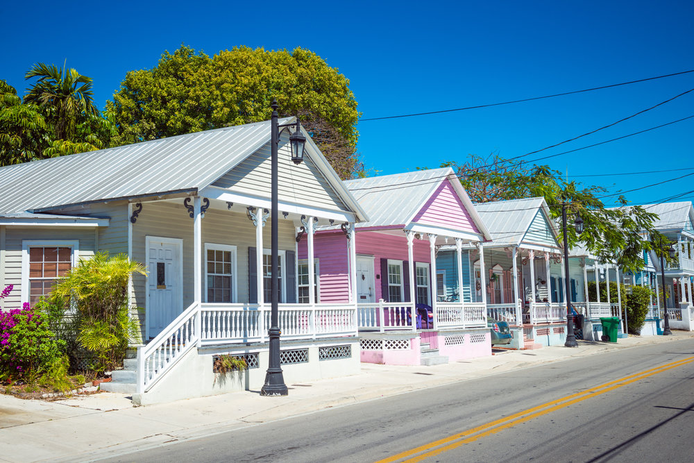 Colorful buildings in Key West