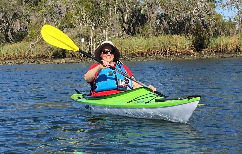 Renting a kayak when we travel is a good option.