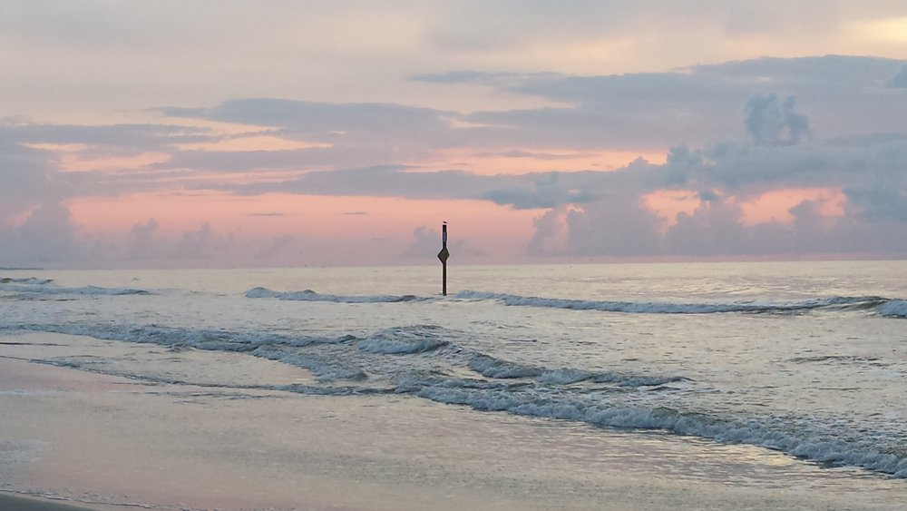 Hunting Island, South Carolina lovely sunset and calm water