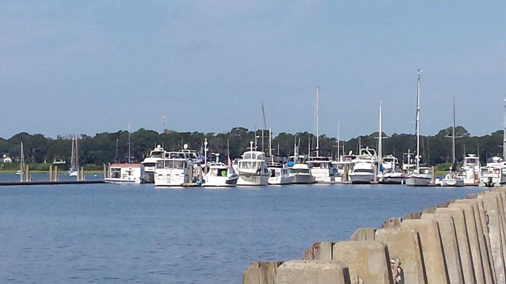 The marina at Beaufort, South Carolina