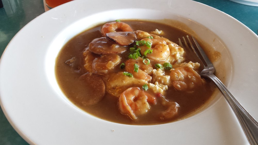 Fleet Landing's fabulous shrimp and grits in tasso gravy.