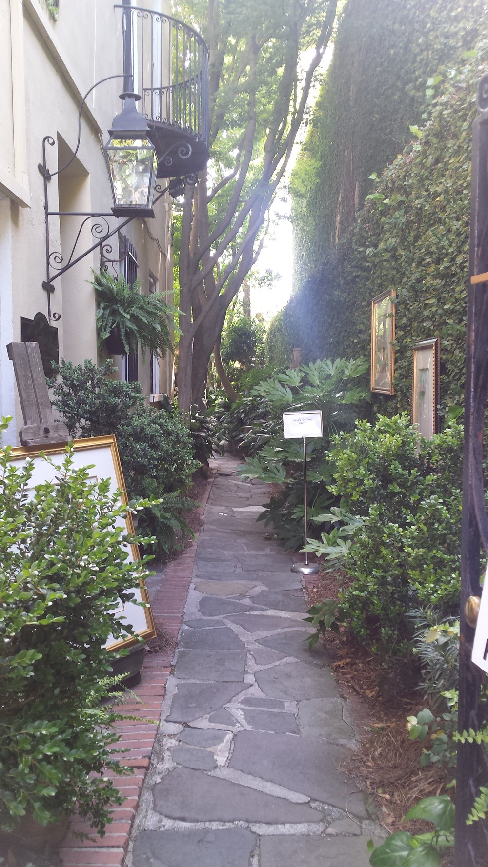So many interesting courtyards around Charleston's historic district.