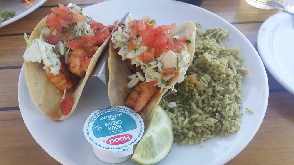 Shrimp tacos from Dead Dog Saloon in Murrell's Inlet