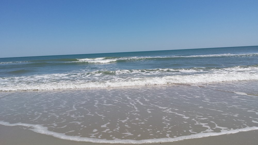 Huntington Beach State Park offers a broad and long beach - great for a walk or jumping in for a swim