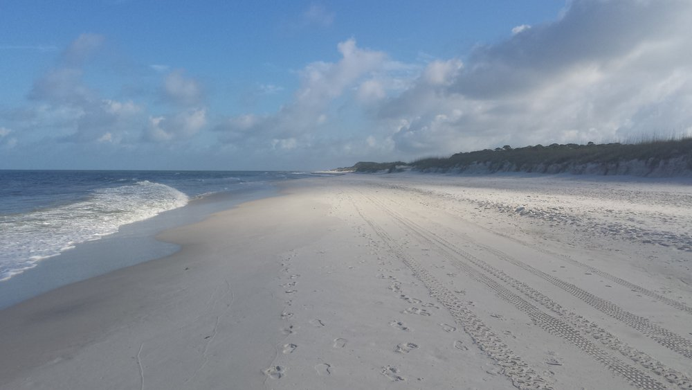 Deserted beach at Cape San Blas in the state park