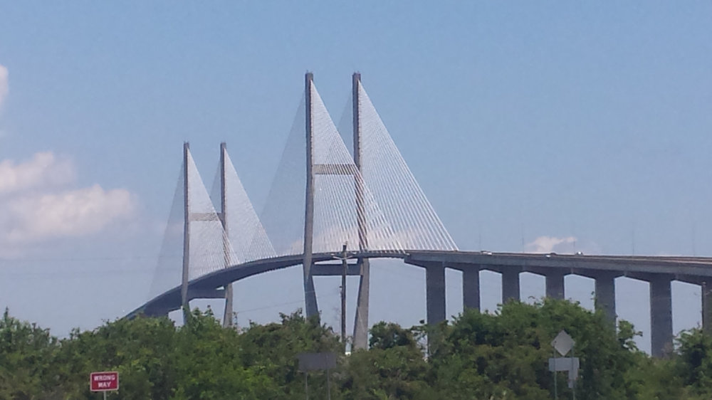 The Sidney Lanier bridge to Brunswick from Jekyll Island