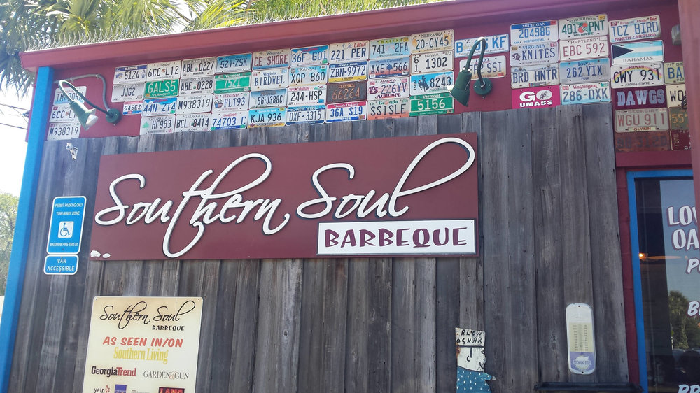 Southern Soul Barbeque in nearby St. Simons is a heavenly taste. Try their iconic Brunswick stew!