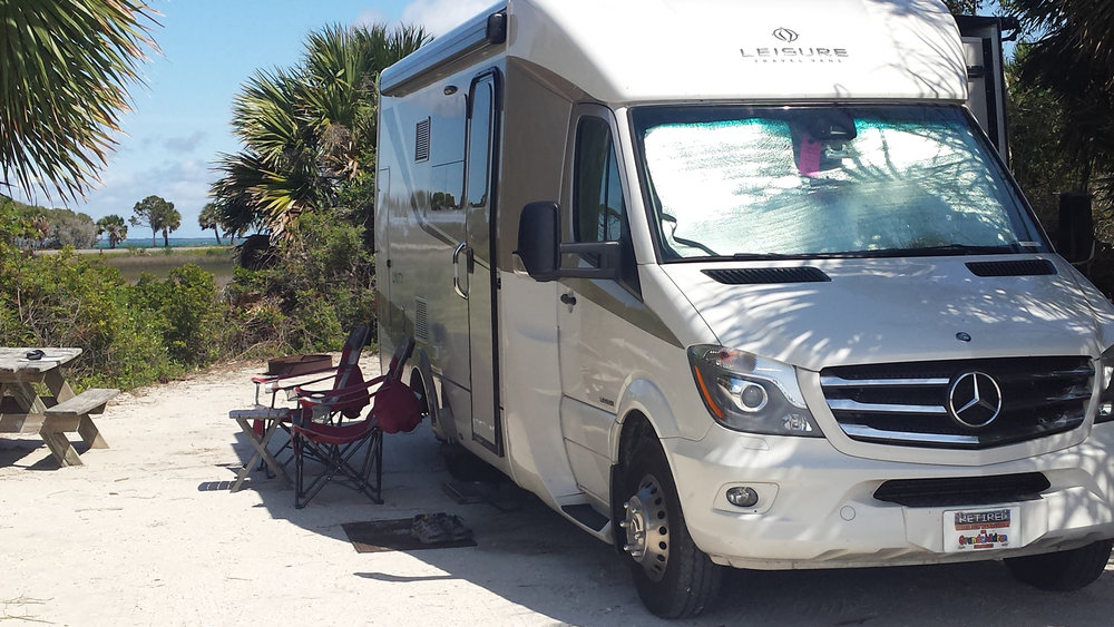 Water front campsites are usually hard to get without reservations!