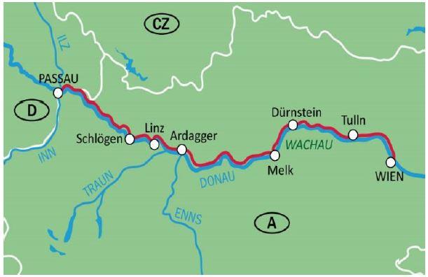 Wachau Karte Donau.Donau Deluxe Rur Rad Urlaube De