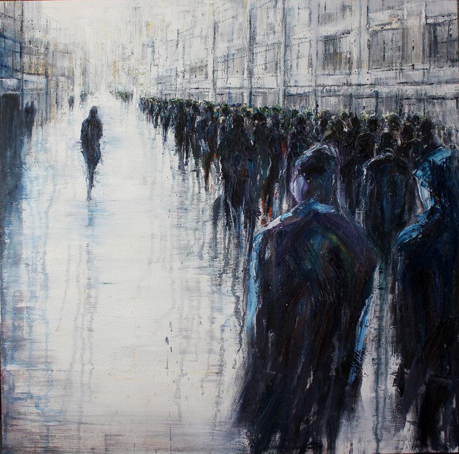 Non Conformist, 100cm x 100 cm, oil on canvas
