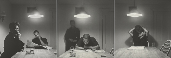 Carrie Mae Weems, Untitled (Man reading newspaper) from Kitchen Table Series, 1990. Promised gift to the Art Institute of Chicago.