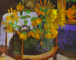 Paul Gauguin, Still Life with Sunflowers on an Armchair, 1901, State Hermitage Museum, St. Petersburg