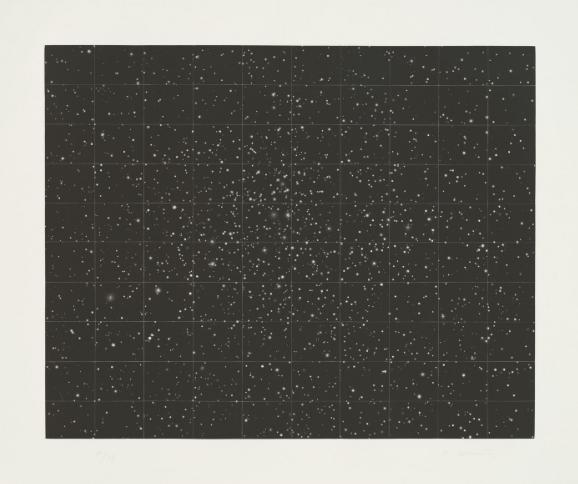 Vija Celmins,  Strata, 1983. Mezzotint, 59.7x74.4cm.