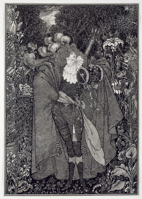 Aubrey Beardsley,  The Abbe,  or,  The Abbe Aubrey,  1895  Source: http://collections.vam.ac.uk/item/O138422/the-abbe-drawing-beardsley-aubrey-vincent/#
