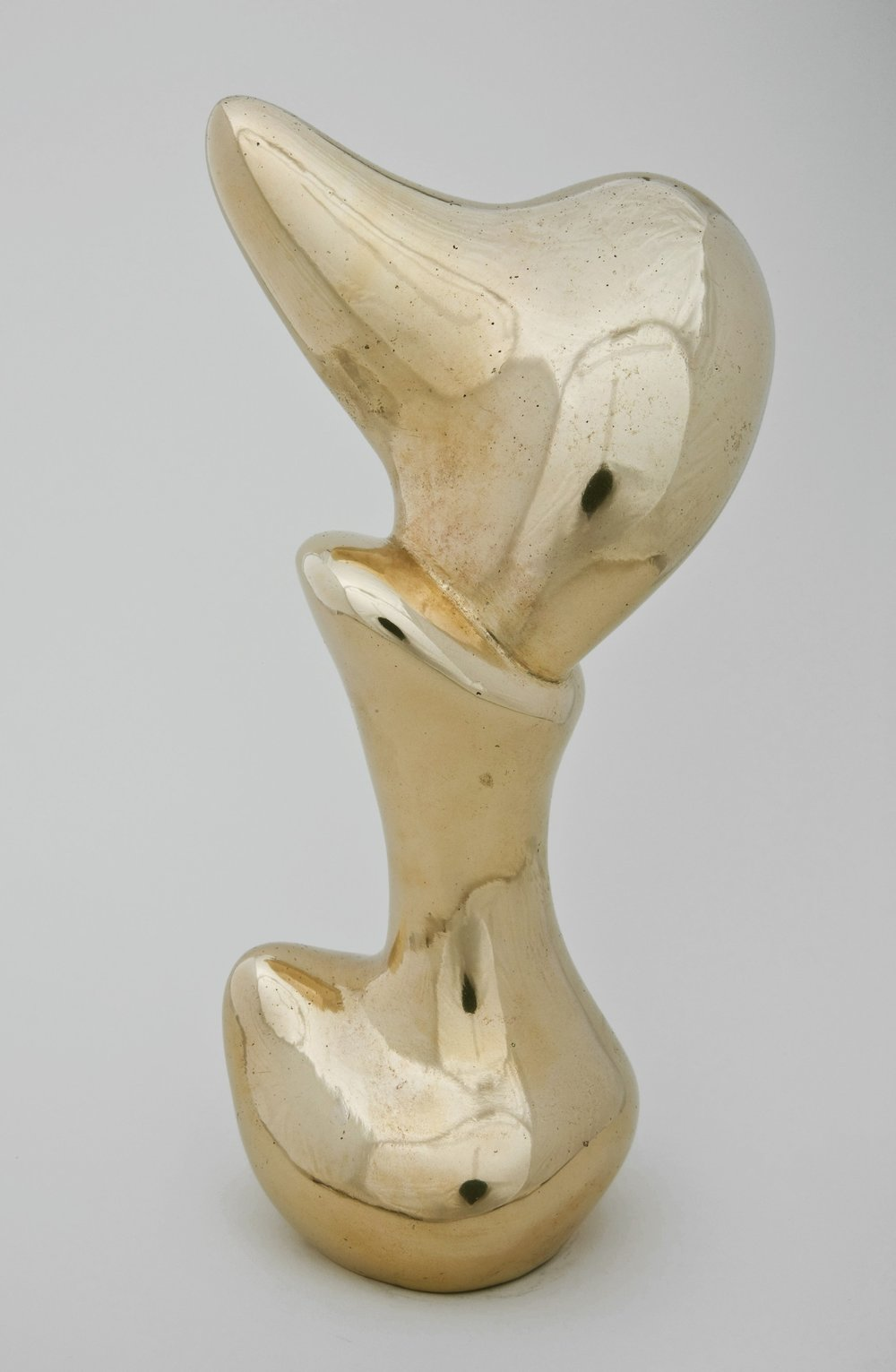 Jean Arp,  Bust of Gnome (Buste de Lutin),  1949, bronze, 12 x 4 1/2 x 4 inches (30.5 x 11.4 x 10.2 cm).  https://www.guggenheim.org/artwork/14000