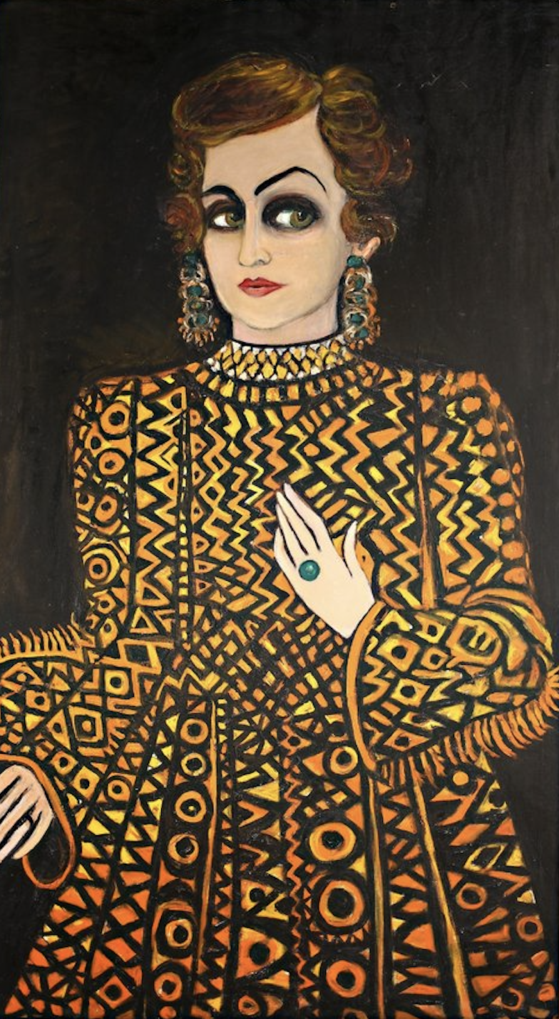 Fahrelnissa Zeid,  Someone from the Past , 1980, Raad Zeid Al-Hussein Collection.  http://www.tate.org.uk/art/artists/fahrelnissa-zeid-22764/lists/four-key-works