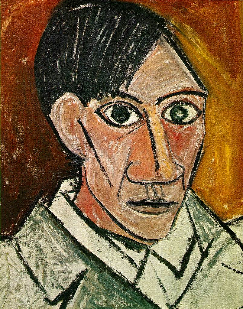 Pablo Picasso, Self-Portrait, 1907.  http://art-picasso.com/1905_84.html