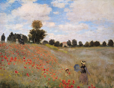 Claude Monet,  Wild Poppies at Argenteuil,  1873.   https://www.britannica.com/art/plein-air-painting
