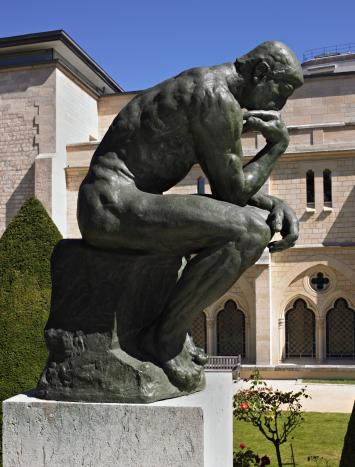 Auguste Rodin,  The Thinker,  1880.  http://www.musee-rodin.fr/en/collections/sculptures/thinker-0