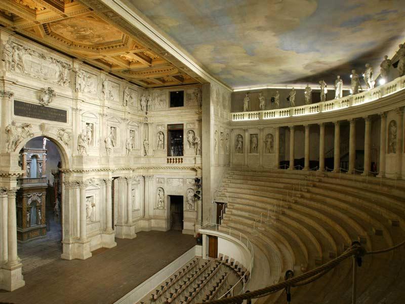 Andrea Palladio, Teatro Olimpico,  1579-80  http://www.italia.it/en/travel-ideas/art-and-history/vicenzas-teatro-olimpico-olympic-theatre.html