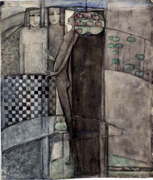 Frances Macdonald,  Prudence and Desire , after 1911, pencil and watercolour, 35.2 x 29.9, Walker Art Gallery, Liverpool.   http://www.liverpoolmuseums.org.uk/walker/exhibitions/doves/finalwatercolours/prudence_desire_frances.aspx
