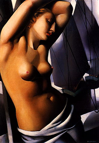 Tamara de Lempicka,  The Blue Hour , 1931, oil on canvas, 55 x 38 cm, private collection.   http://www.delempicka.org/artwork/1930-1933.html