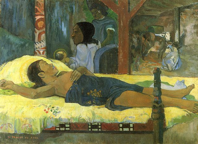 Paul Gauguin,  Geburt Christi, des Gottessohnes,  1896.   http://the-creative-business.com/24-famous-paintings-nativity/