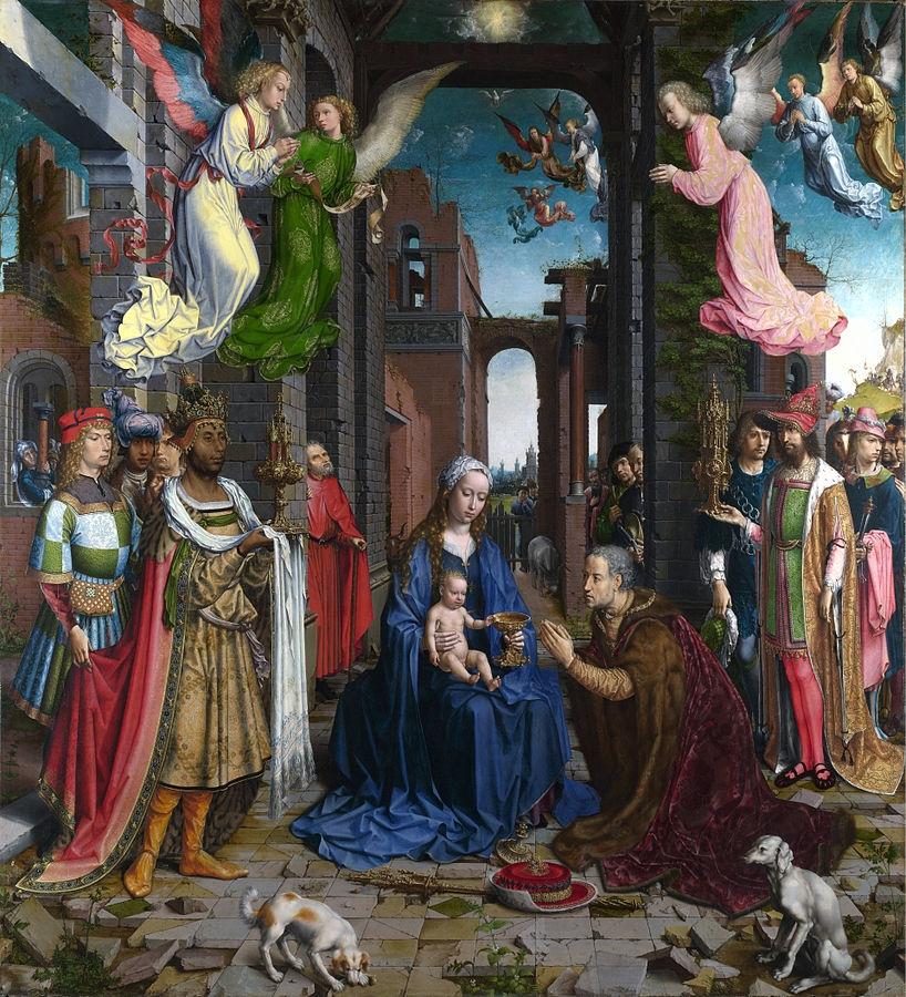 Jan Gossaert, The Adoration of the Kings, 1510-15