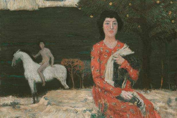 Jan Preisler,   Žena u Jezera ,  oil on canvas, (1905) 74 cm (29.1 in). Width: 100 cm (39.4 in), National Gallery in Prague.  https://theartstack.com/artist/jan-preisler/zena-u-jezera-1905