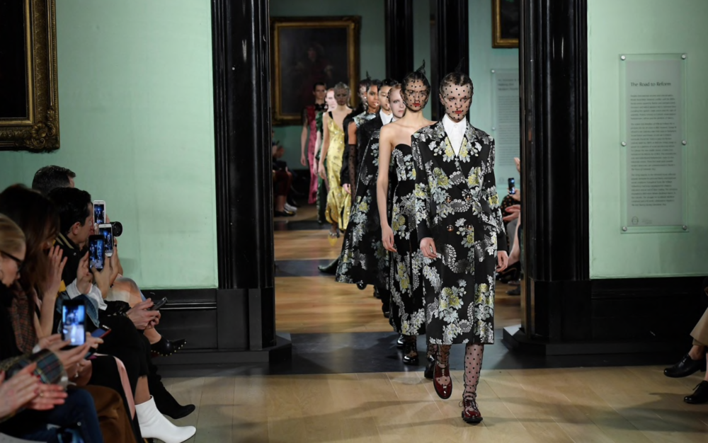 The London Fashion Week Erdem show at the National Portrait Gallery. CREDIT: WWD/REX/SHUTTERSTOCK