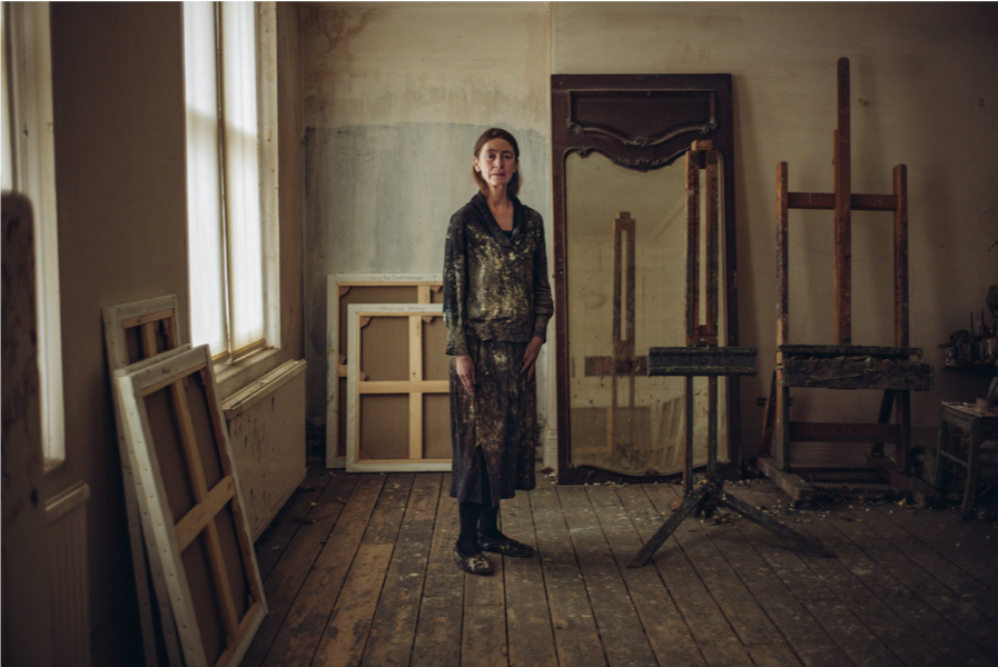 Tom Jamieson,  Celia Paul in her studio  SOURCE:  The New York Times