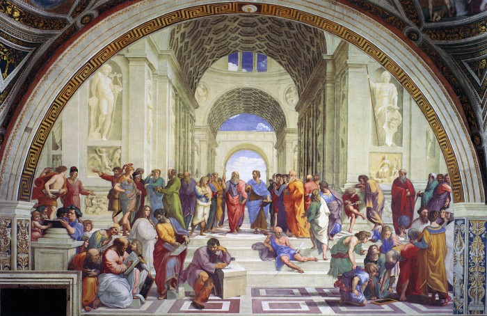 Raphael,  The School of Athens, 1509-11.  St Andrews Image Database. https://imagedatabase.st-andrews.ac.uk/images/viewimage.php?id=GZxLhuSeohc=
