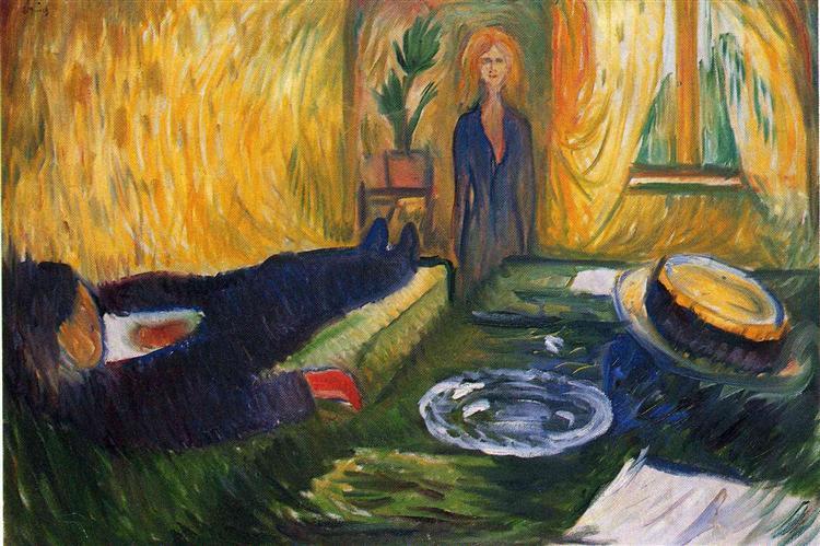 Edvard Munch,  The Murderess , 1906. Oil on canvas, 69.5 x 100 cm. Munch Museum, Oslo, Norway.http://www.abcgallery.com/m/munch/munch145.html