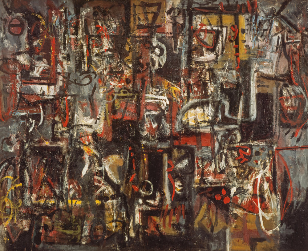 Alan Davie,  Jingling Space,  1950, Scottish Gallery of Modern Art, © The Estate of Alan Davie / DACS, London 2017.  https://www.nationalgalleries.org/art-and-artists/468/jingling-space