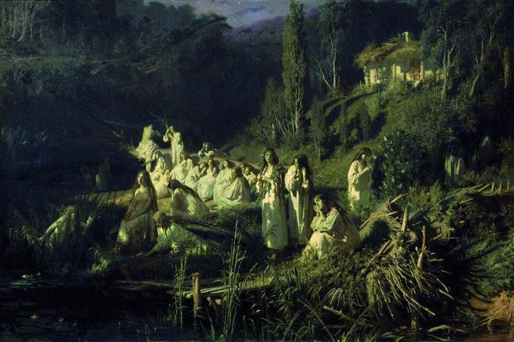 Ivan Kramskoy, Rusałki (The Mermaids), 1871. Oil on Canvas, 89.5 х 134cm. Tretyakov Gallery.https://www.wikiart.org/en/ivan-kramskoy/mermaids-1871