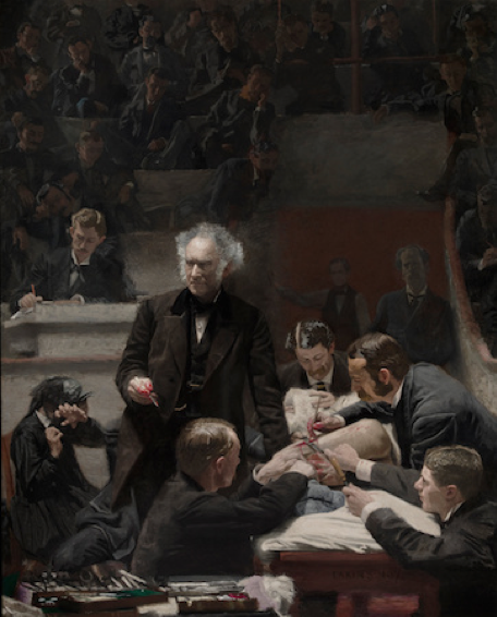 Thomas Eakins , The Gross Clinic , 1875, Oil on Canvas, Philadelphia Museum of Art  https://www.khanacademy.org/humanities/art-americas/us-art-19c/realism-us/a/eakins-the-gross-clinic