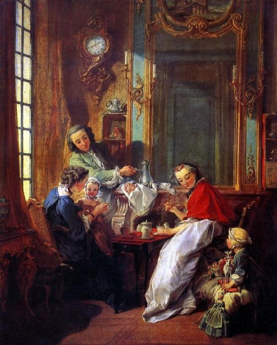 Francois Boucher, The Breakfast, 1739, oil on canvas, 81.5 x 61.5 cm, The Louvre Museum.   https://www.francoisboucher.org/Breakfast.html