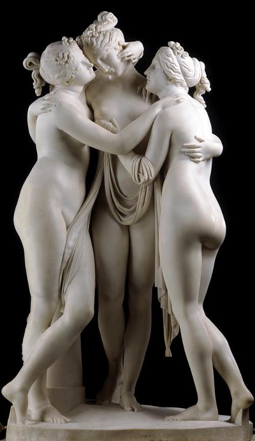Antonio Canova,  The Three Graces,  carved marble, 1814-1817, 17 cm x 97 cm x 57 cm, Victoria and Albert Museum, London.  http://www.vam.ac.uk/content/articles/t/the-three-graces/