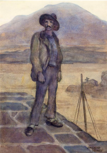 Jack B. Yeats,  Man from Aranmore,  1905, Black chalk and watercolour on board, 38 x 27.3 cm, National Gallery of Ireland.  http://onlinecollection.nationalgallery.ie/categories