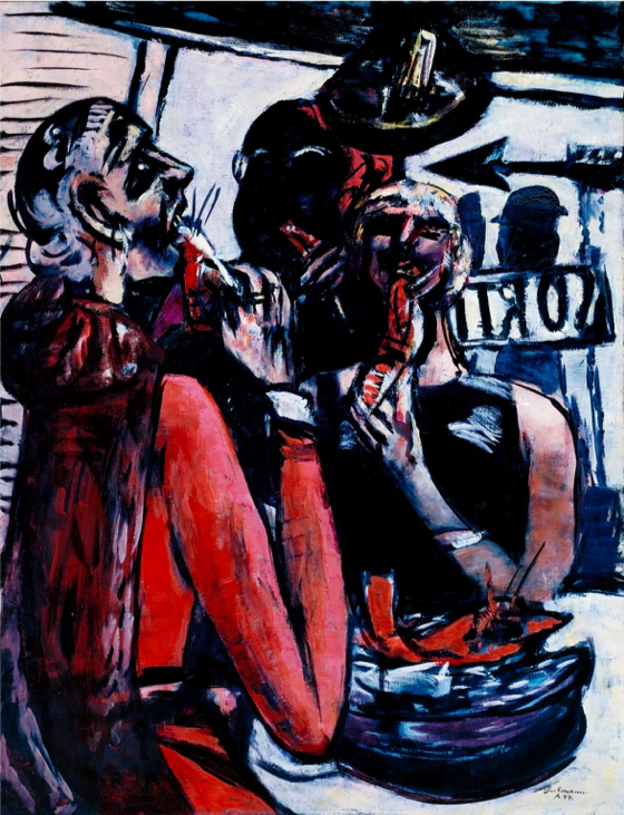 Max Beckmann, Prunier, 1944 (Tate Modern)  https://www.tate.org.uk/art/artworks/beckmann-prunier-t02395