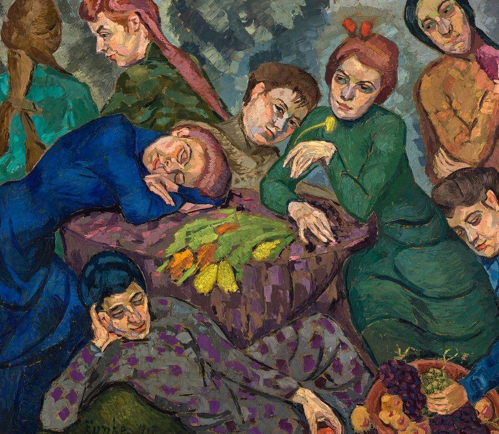 Dreams by Helene Funke (1913)   https://www.belvedere.at/city_of_women
