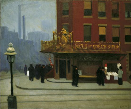 Edward Hopper,  New York Corner,  1913, oil on canvas, Private Collection  https://www.nga.gov/features/slideshows/edward-hopper.html