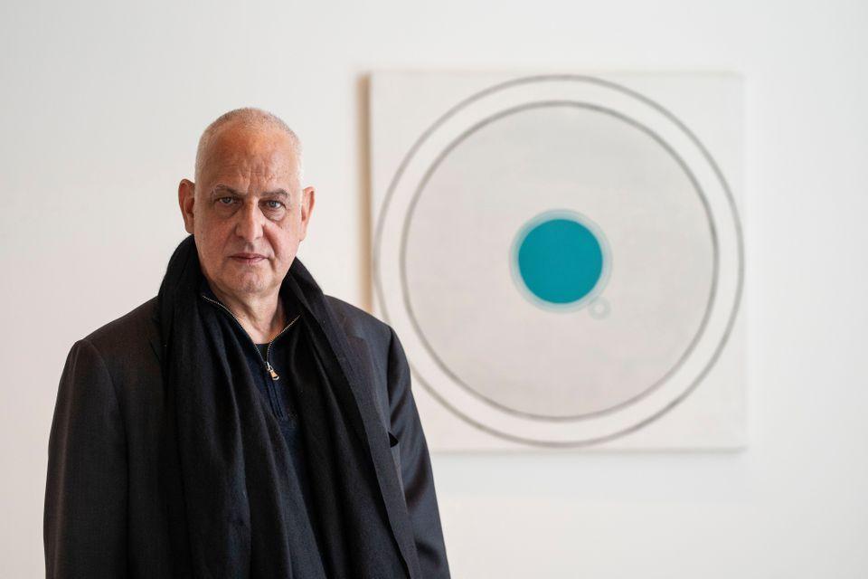Matteo De Fina , A picture of the artist, Luc Tuymans.  2019.