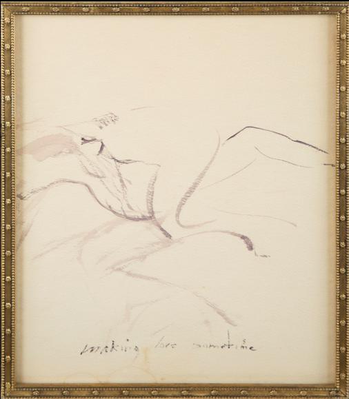 Marilyn Monroe,  Making Love Sometime,  c. 1960, watercolour on paper.  https://www.artsy.net/artwork/marilyn-monroe-making-love-sometime