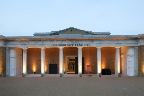 The Serpentine Sackler Gallery  in London. Courtesy of the Serpentine Galleries.