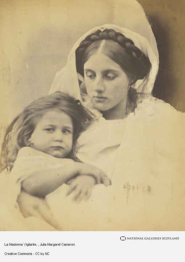 Julia Margaret Cameron,  La Madonna Vigilante,  1864, albumen print, 25.20 x 20 cm, National Galleries of Scotalnd, Edinburgh. https://www.nationalgalleries.org/art-and-artists/9195/la-madonna-vigilante