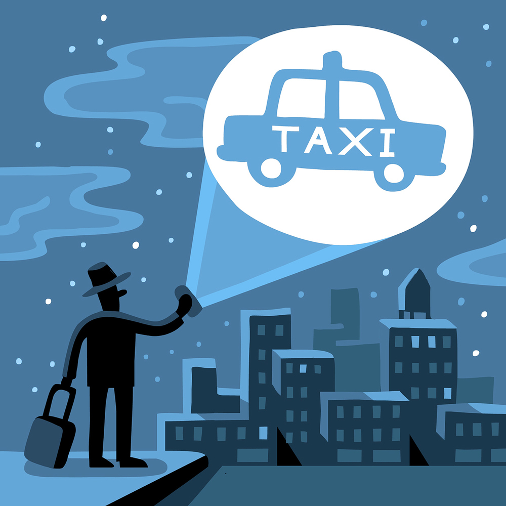 Taxi Apps Money Magazine AD: Patricia Alvarez